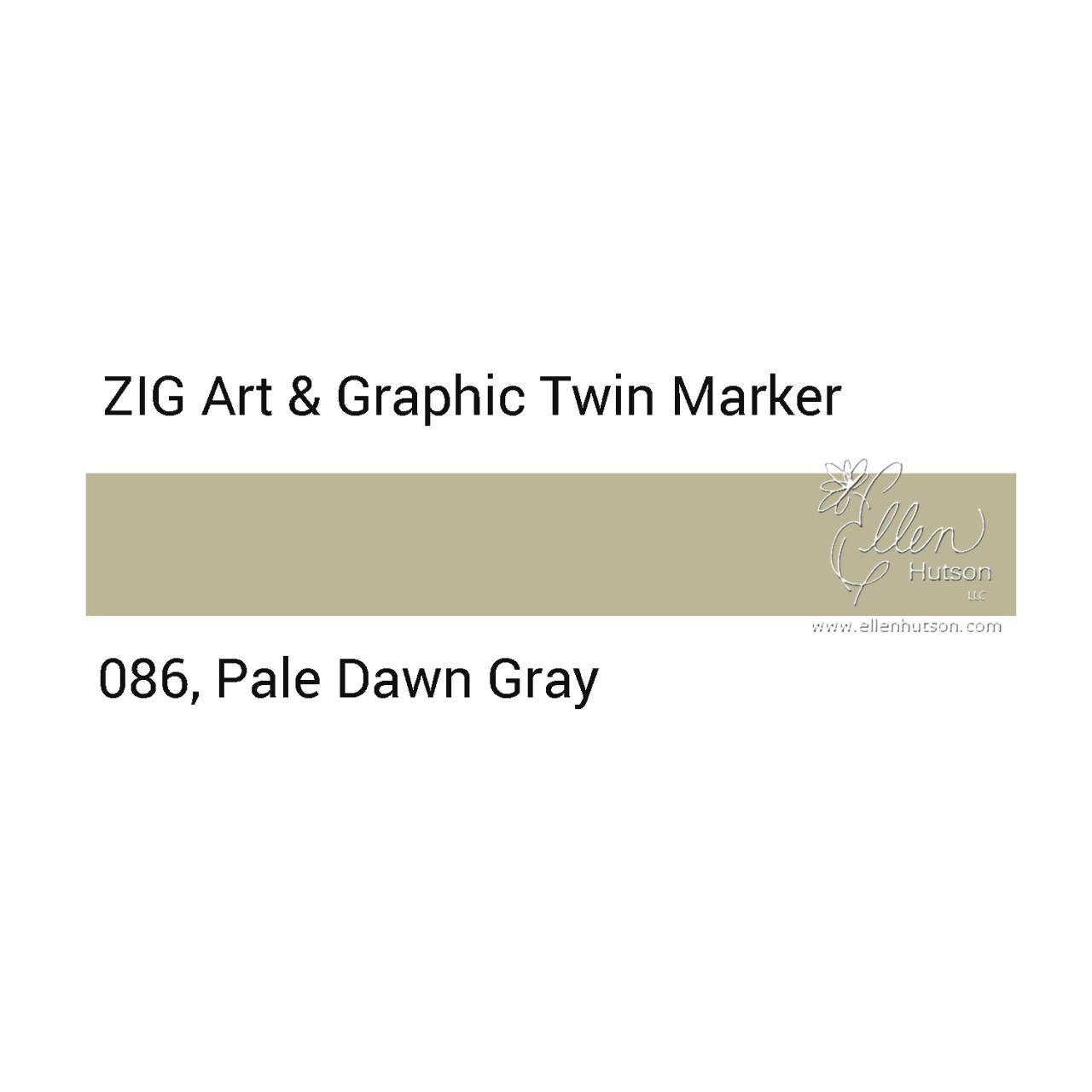 Pale Dawn Gray, Zig Art & Graphic Twin Tip Marker -