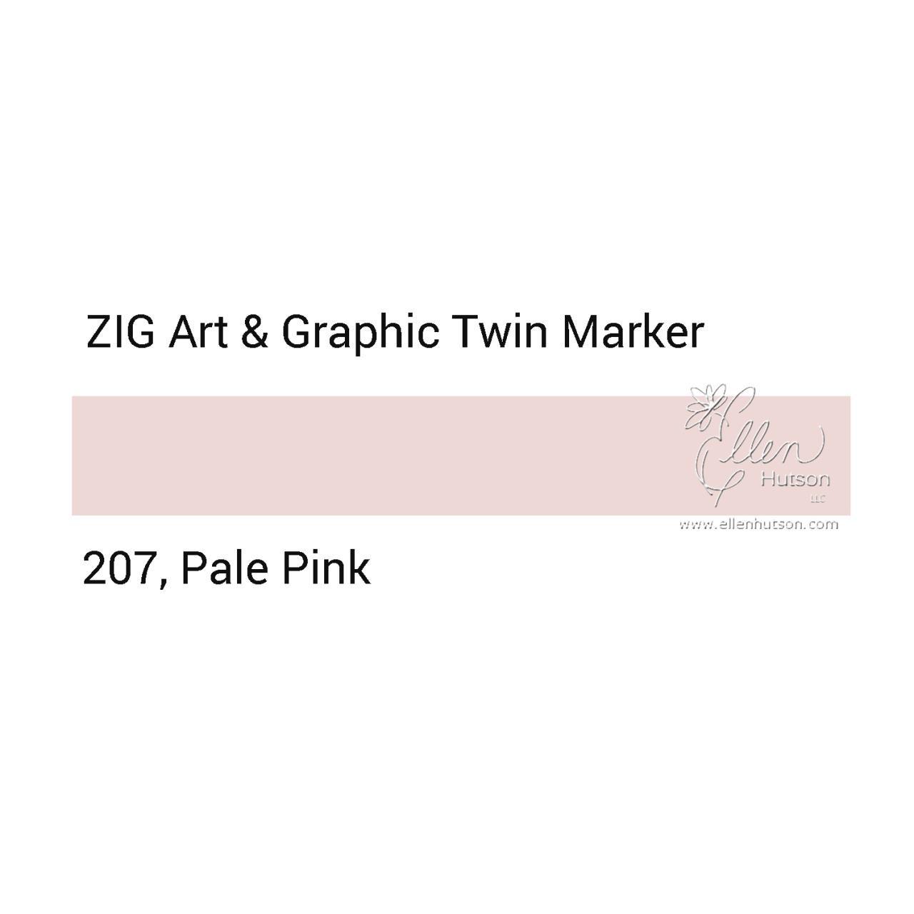 Pale Pink, Zig Art & Graphic Twin Tip Marker -