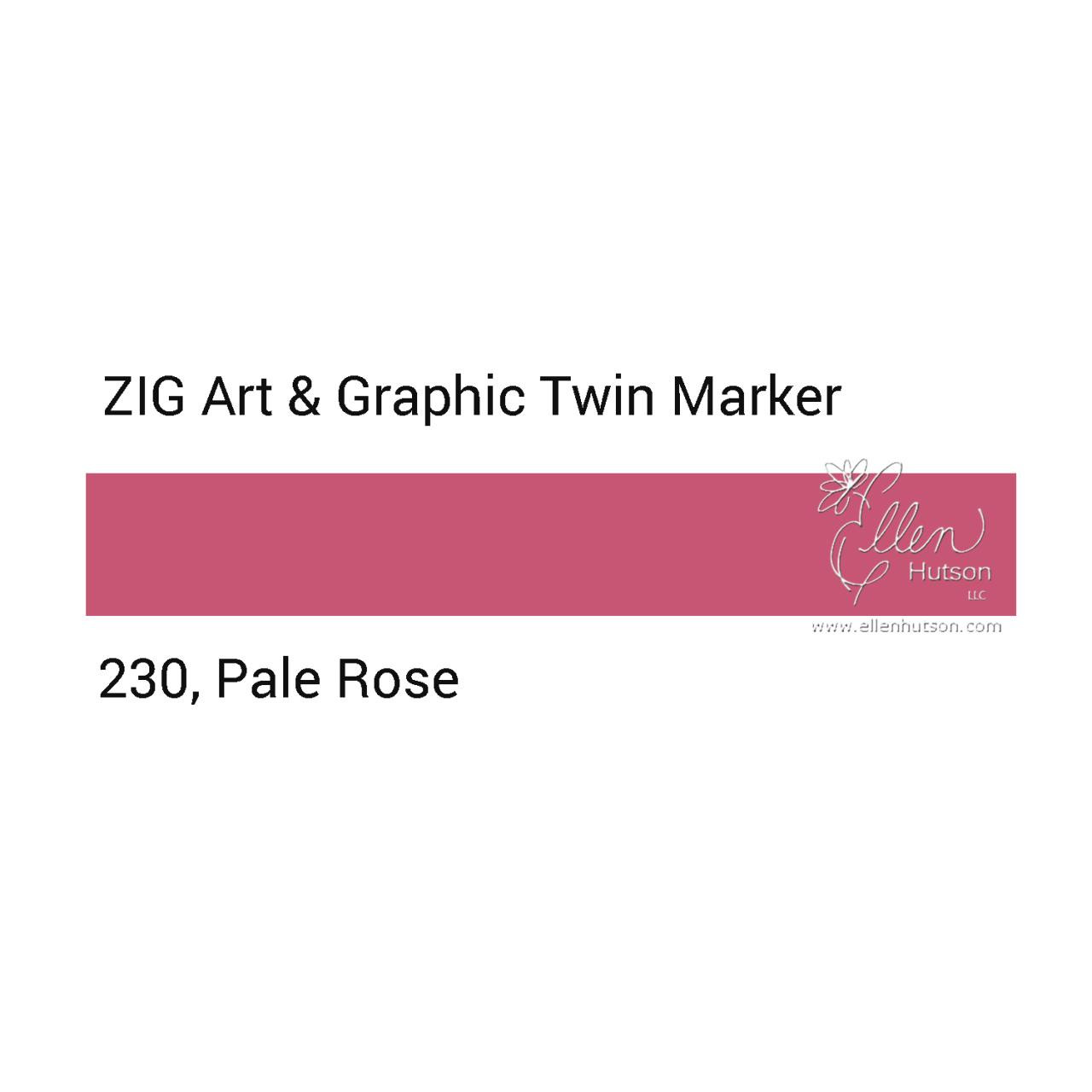Pale Rose, Zig Art & Graphic Twin Tip Marker -