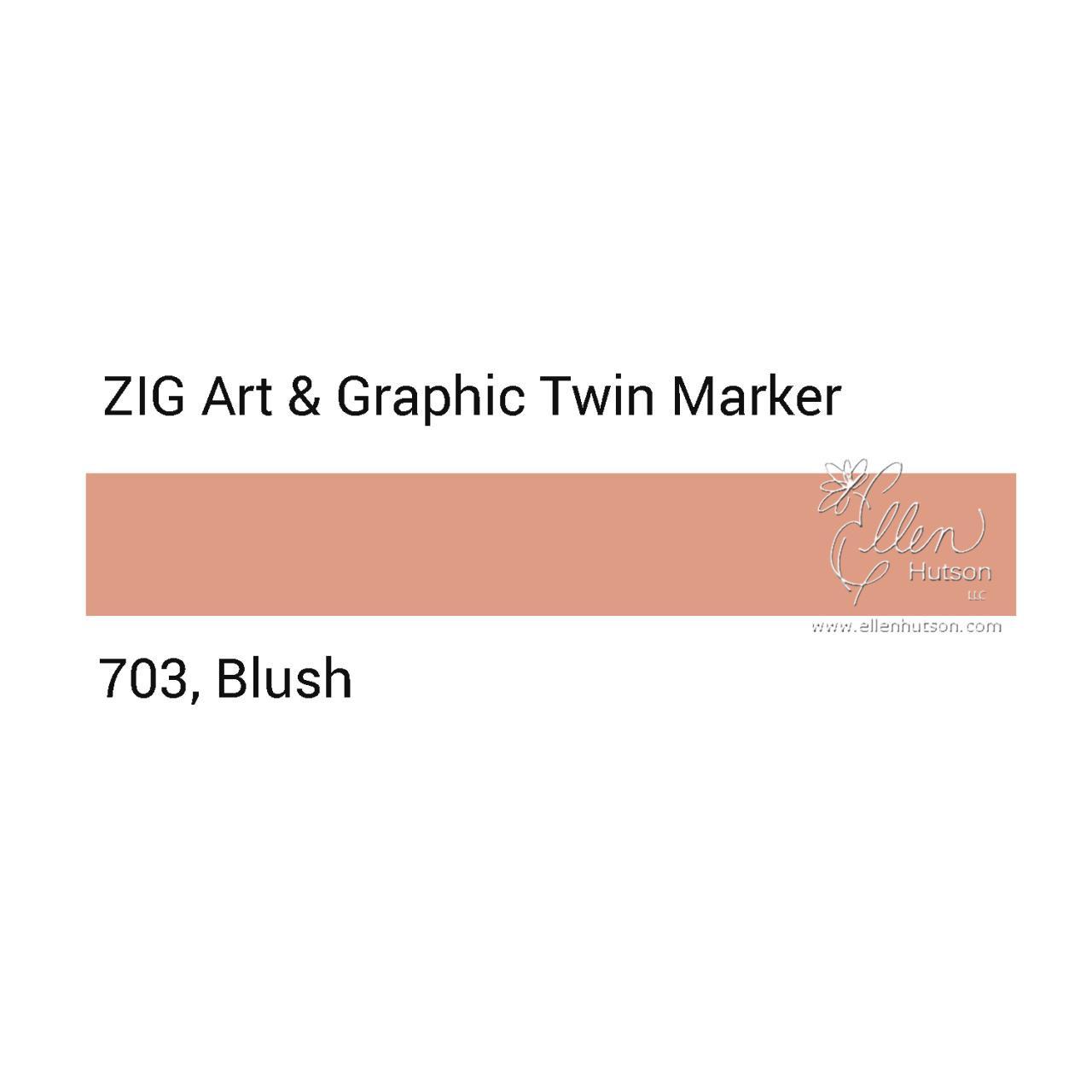 Blush, Zig Art & Graphic Twin Tip Marker -