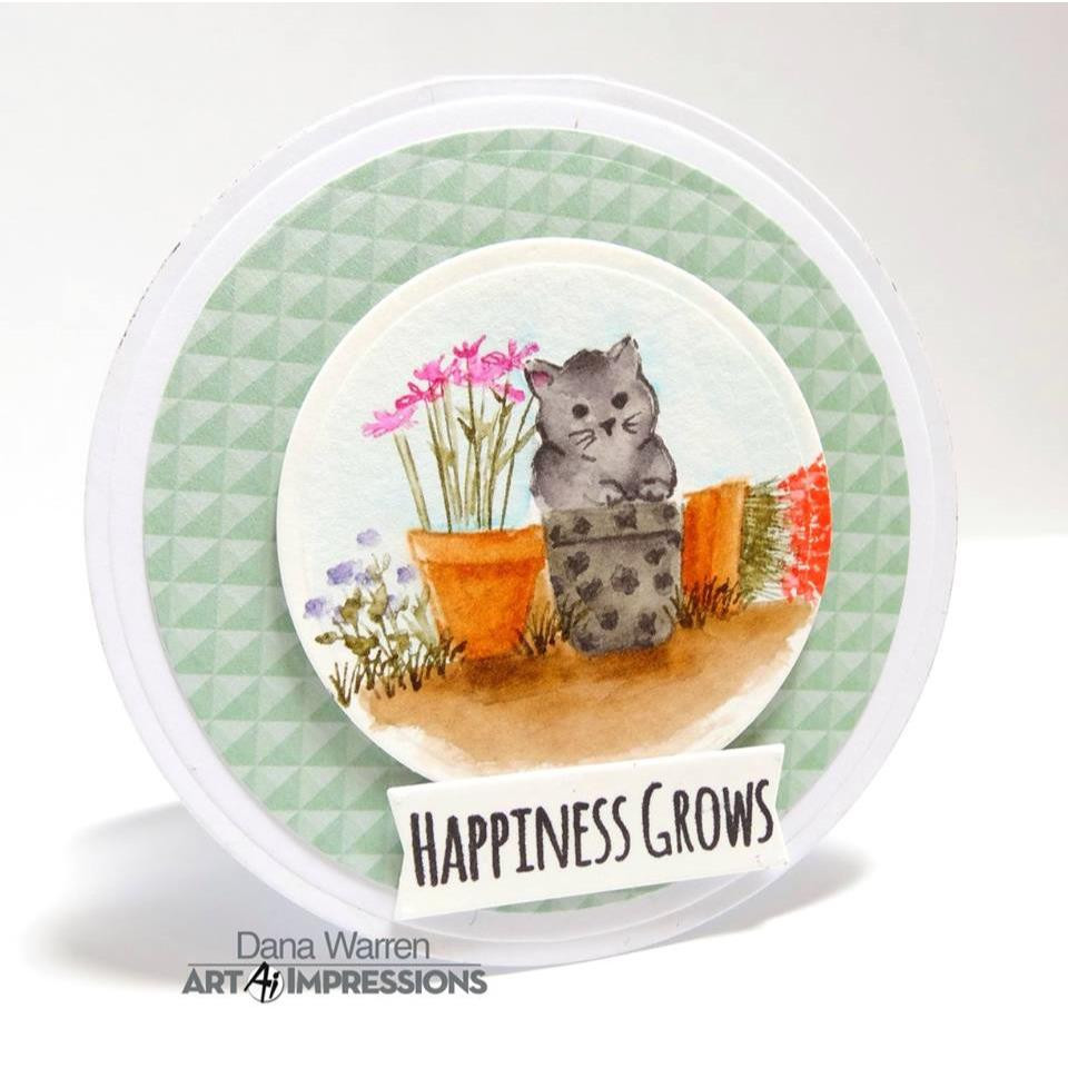 Watercolor Small Container, Art Impressions Cling Stamps - 750810792786