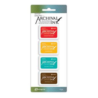 Ranger Archival Mini Ink Pads by Wendy Vecchi, Kit 1 -