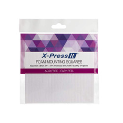 X-Press It Foam Mounting Squares, 1/4 x 1/4 -