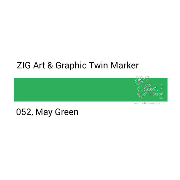 Zig Art & Graphic Twin Tip Marker, May Green - 847340015840