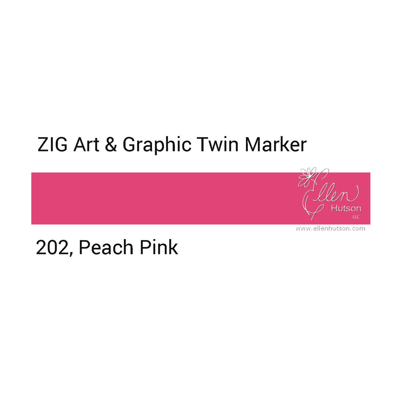 Zig Art & Graphic Twin Tip Marker, Peach Pink - 847340016137