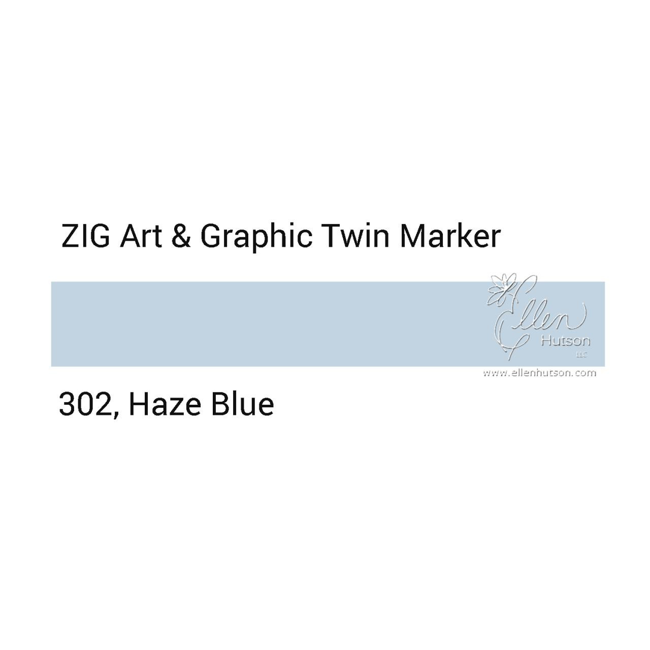 Zig Art & Graphic Twin Tip Marker, Haze Blue - 847340016199
