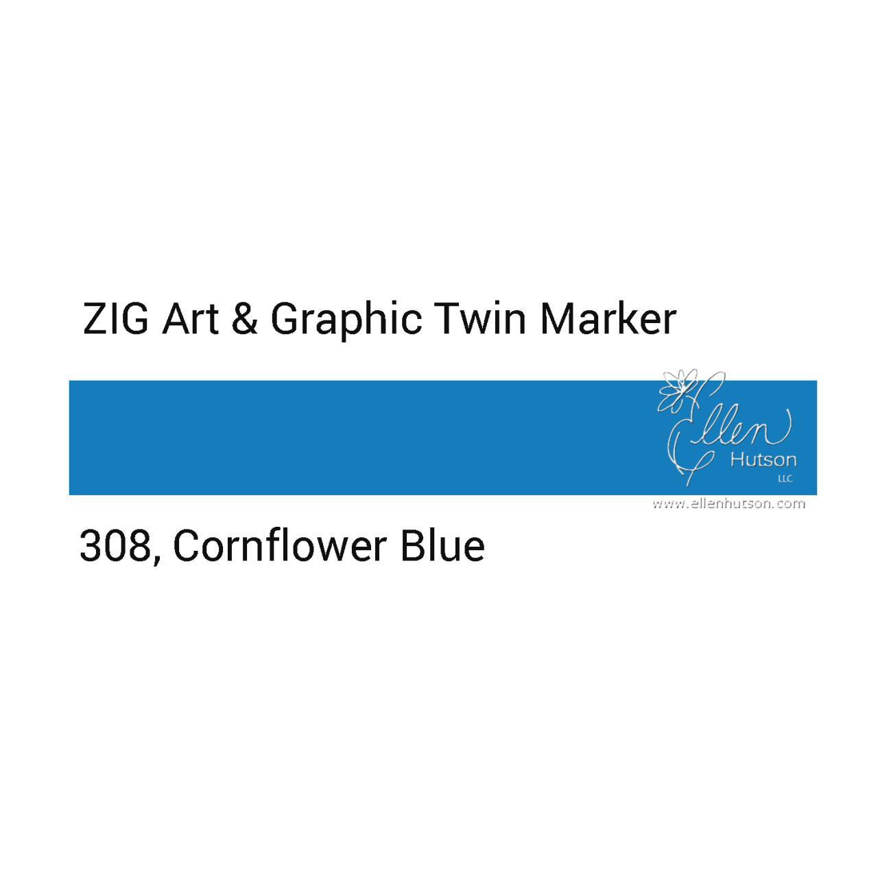 Zig Art & Graphic Twin Tip Marker, Cornflower Blue - 847340016212