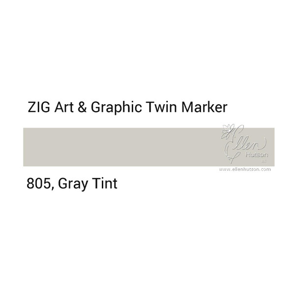 Zig Art & Graphic Twin Tip Marker, Gray Tint - 847340016335