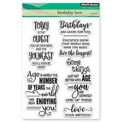 Penny Black Clear Stamps, Birthday Love -