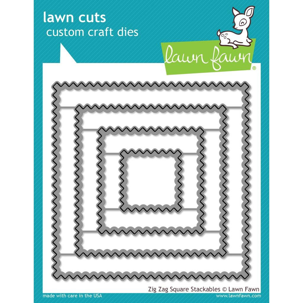 Lawn Cuts Dies, Zig Zag Square Stackables -