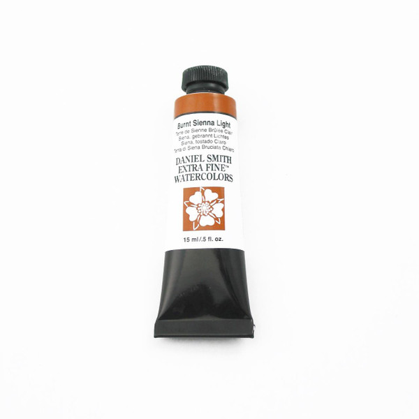 DANIEL SMITH Extra Fine Watercolors 15ml Tubes, Burnt Sienna Light - 743162033324