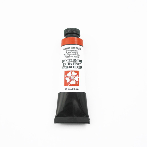 DANIEL SMITH Extra Fine Watercolors 15ml Tubes, Aussie Red Gold - 743162033362