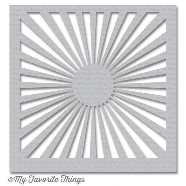 My Favorite Things Stencils, Radiating Rays - 849923016978