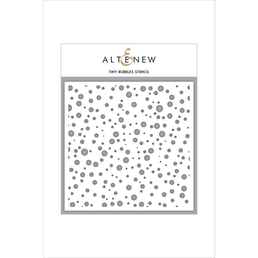Altenew Stencils, Tiny Bubbles -