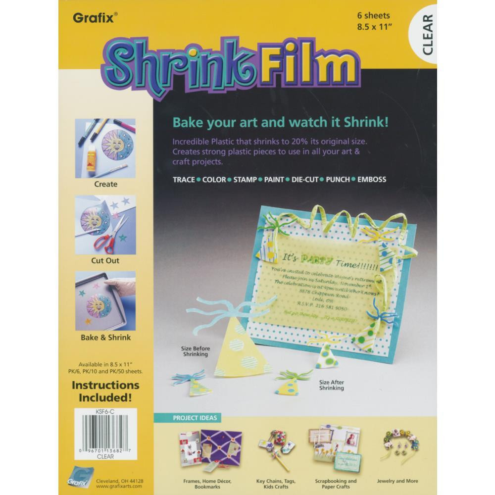 Grafix Shrink Film, Clear - 096701136827