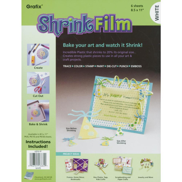 Grafix Shrink Film, White - 096701136841
