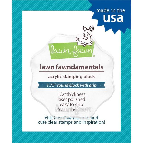 Lawn Fawn Clear Acrylic Block, 1.75 round -