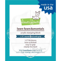 Lawn Fawn Clear Acrylic Block, 2.5 round with gridlines -