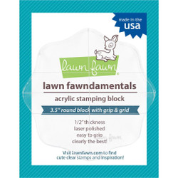 Lawn Fawn Clear Acrylic Block, 3.5 round with gridlines -