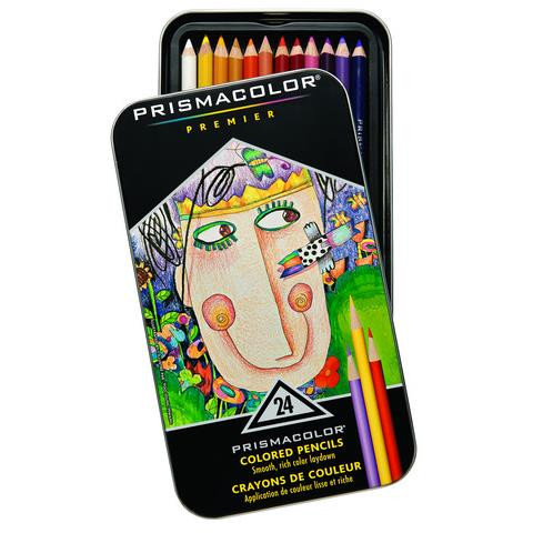 Prismacolor Premier Colored Pencils, Set of 24 - 070735035974