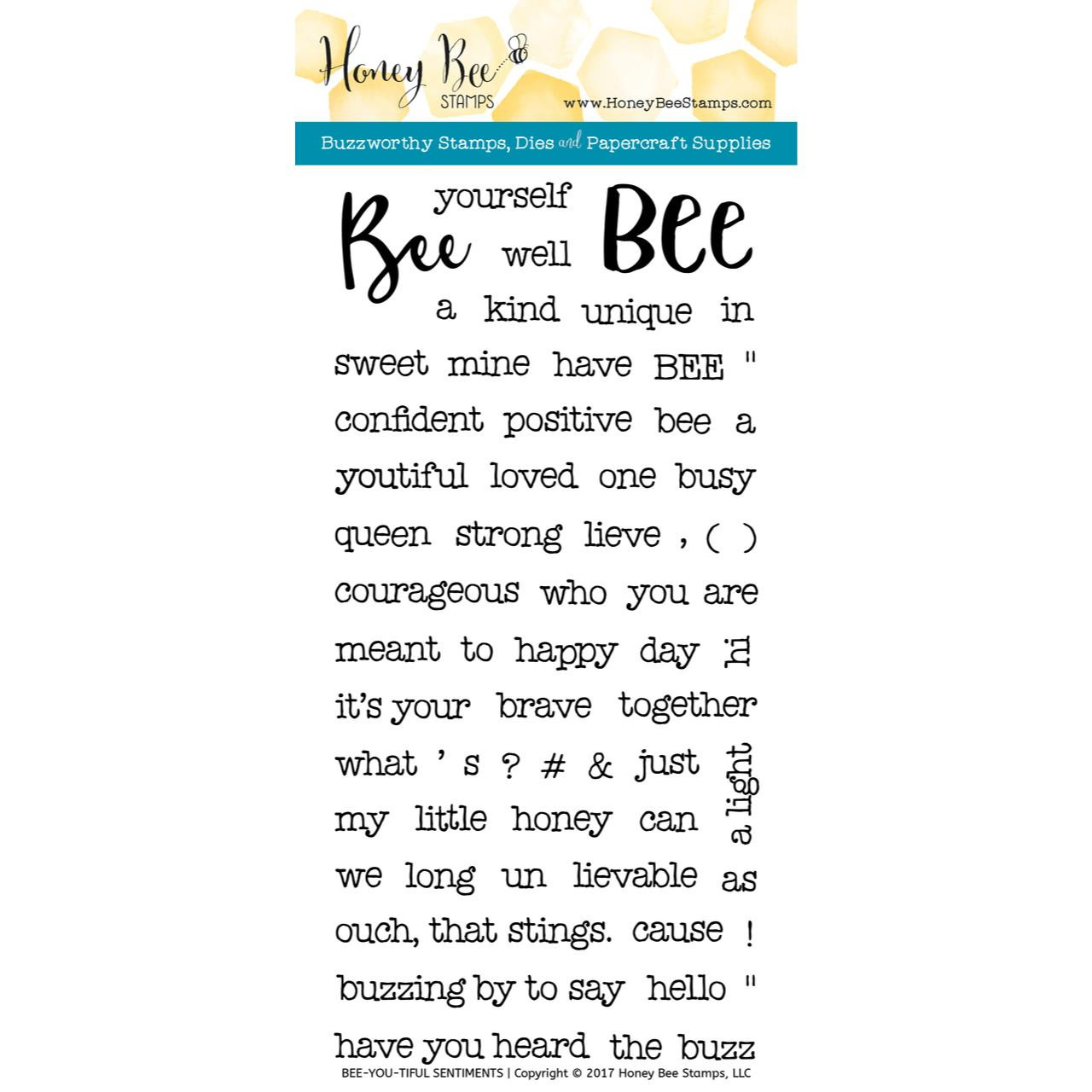 Honey Bee Clear Stamps, Bee-You-Tiful Sentiments -