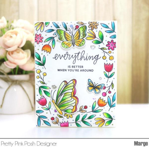 Pretty Pink Posh Clear Stamps, Thoughtful Greetings -
