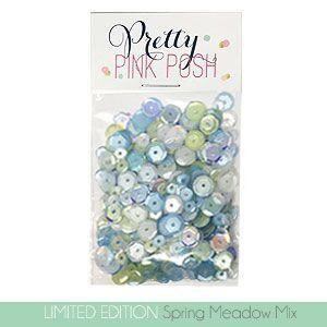 Pretty Pink Posh Sequins, Limited Edition Spring Meadow Mix -