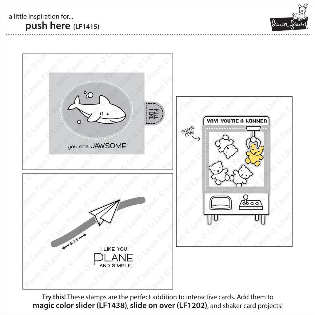 Lawn Fawn Clear Stamps, Push Here - 035292667891