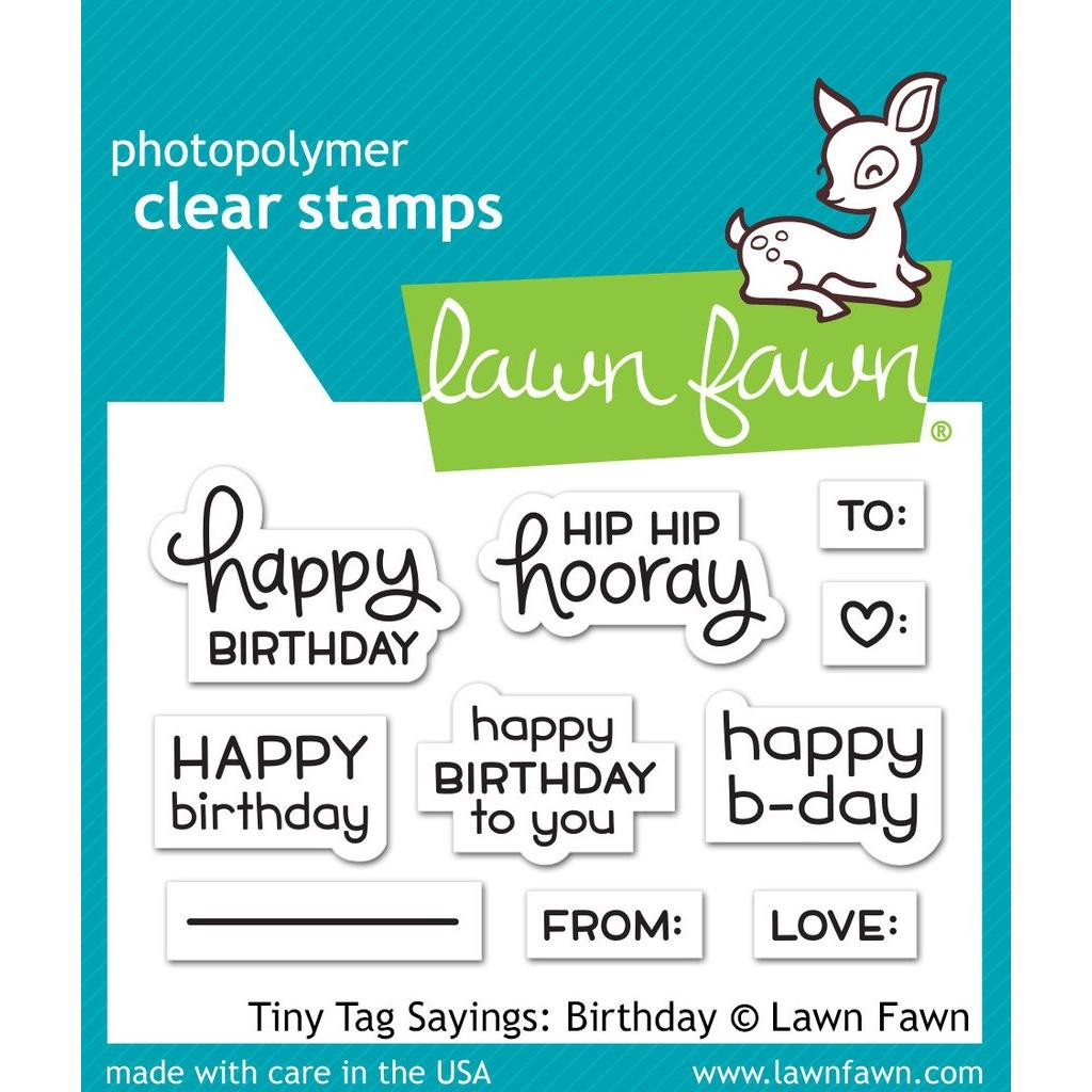 Lawn Fawn Clear Stamps, Tiny Tag Sayings: Birthday - 035292667952