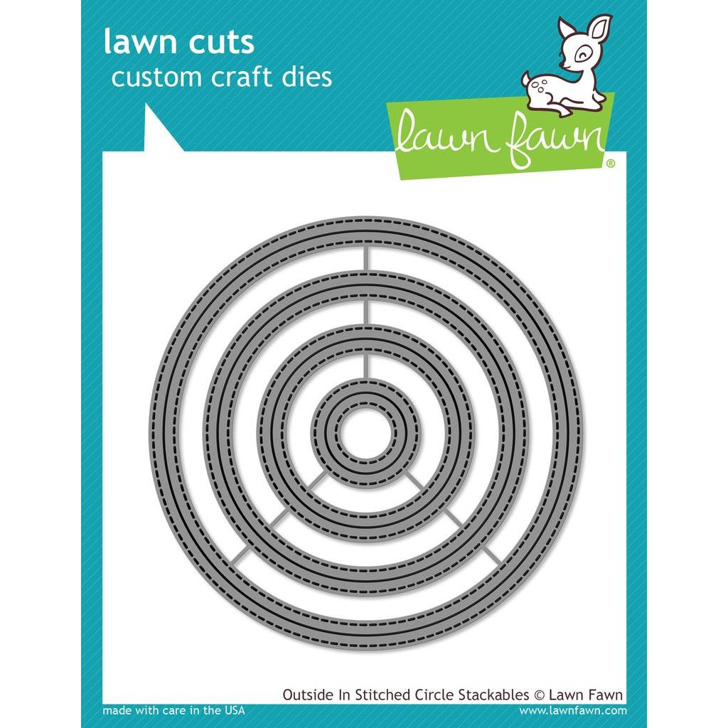 Lawn Cuts Dies, Outside In Stitched Circle Stackables - 035292668157