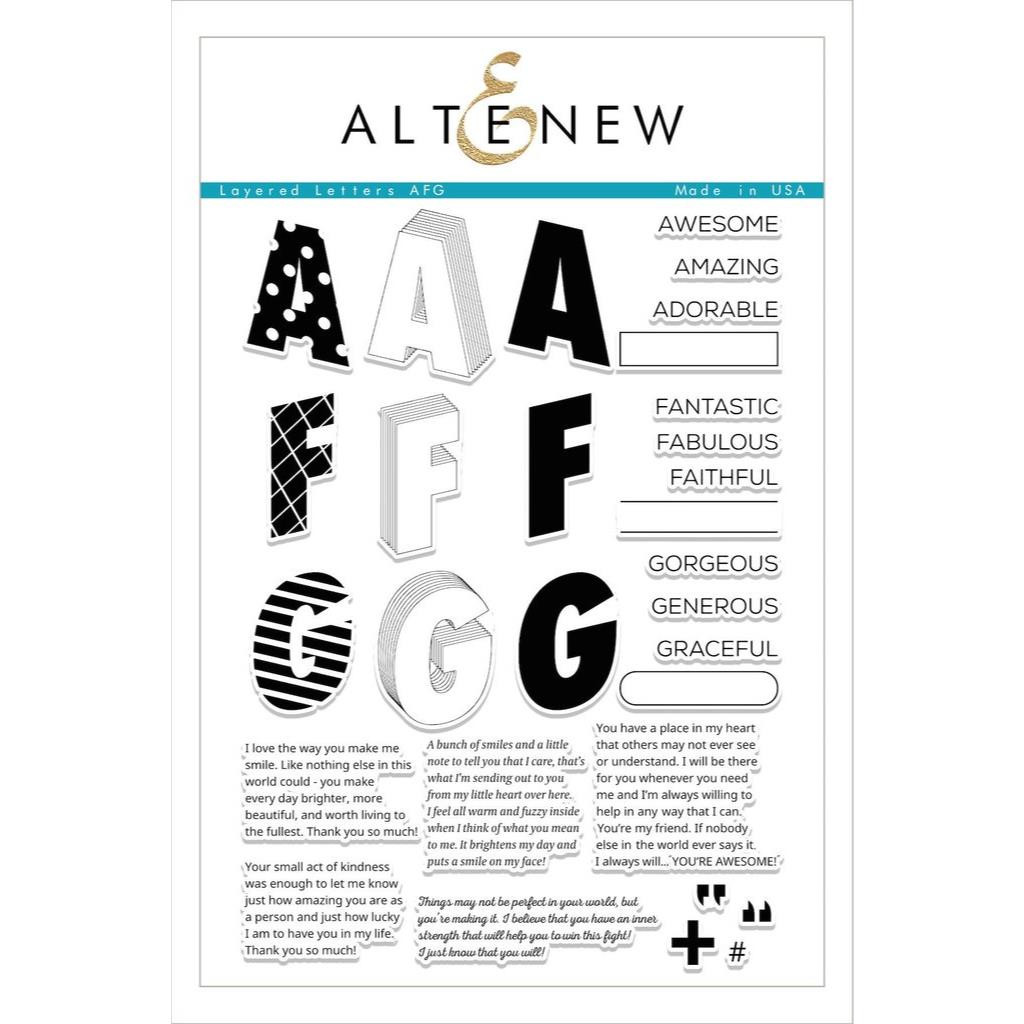 Altenew Clear Stamps, Layered Letters AFG - 641938492958