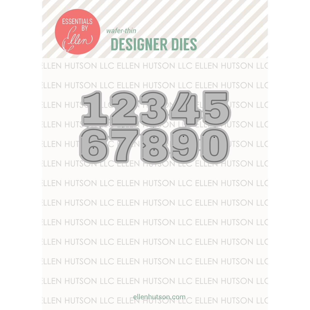 Essentials by Ellen Designer Dies, Hinged Numbers by Julie Ebersole -