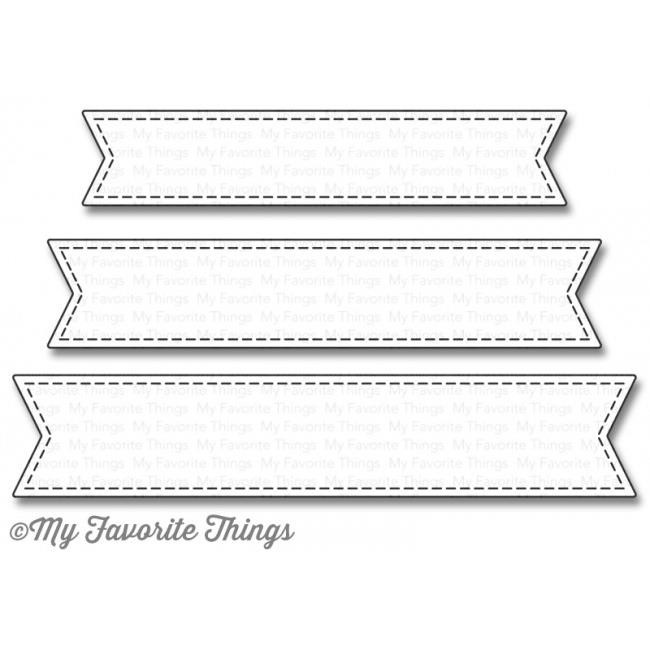 My Favorite Things Die-namics, Stitched Fishtail Sentiment Strip - 849923017890