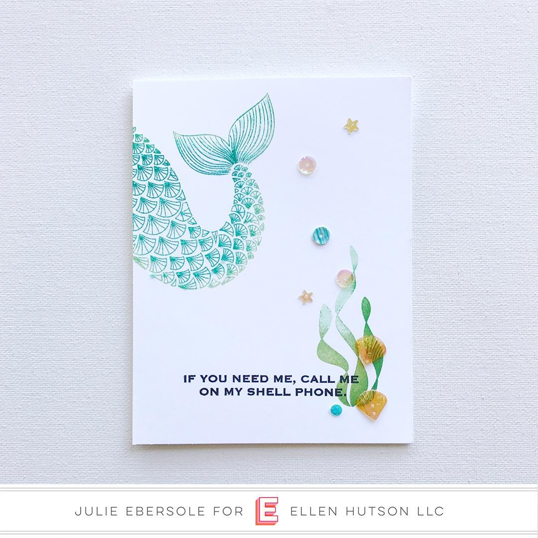 Mermaid's Tail by Julie Ebersole, Essentials by Ellen Clear Stamps -