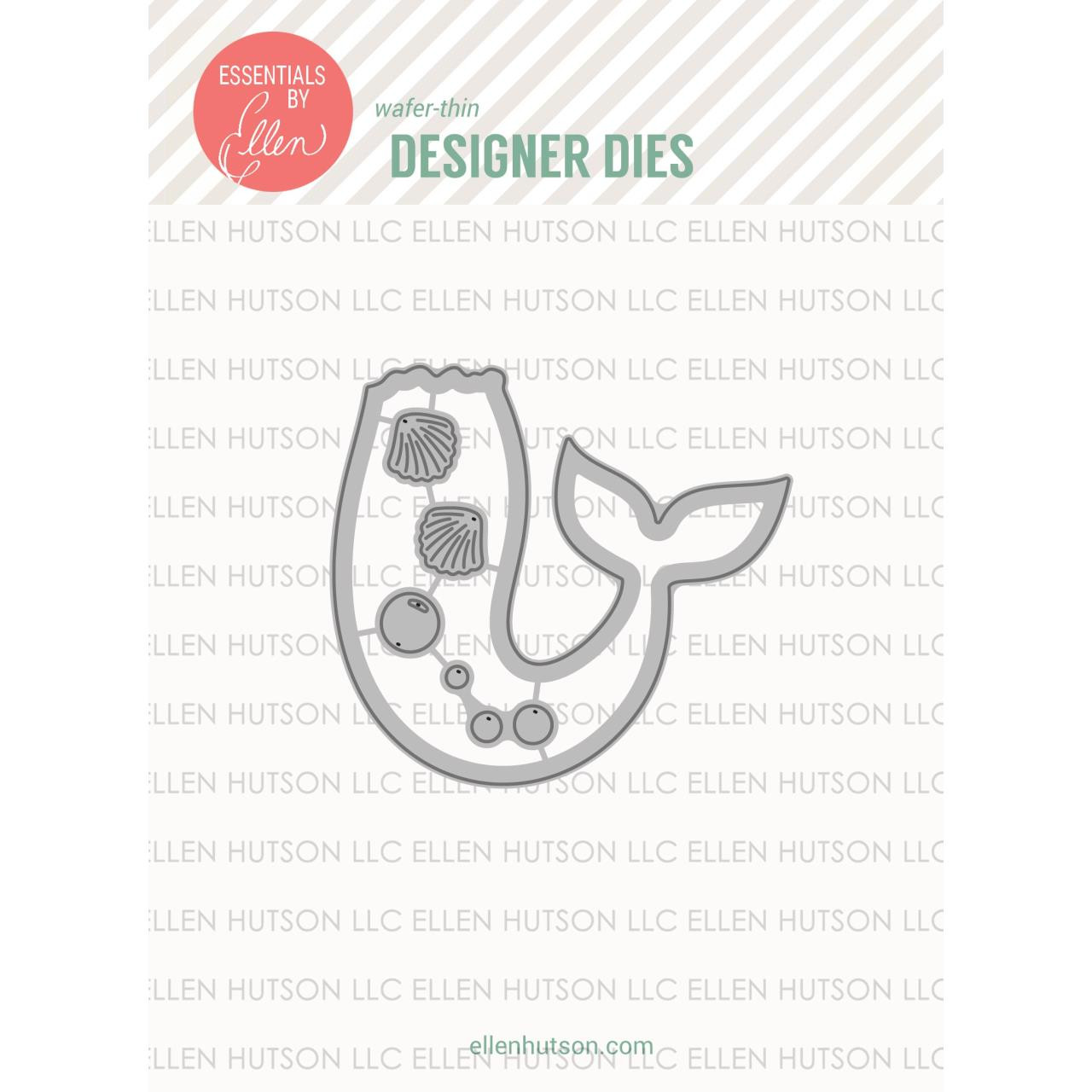 Essentials by Ellen Designer Dies, Mermaid's Tail by Julie Ebersole -