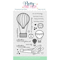 Pretty Pink Posh Clear Stamps, Fly Away Friends -