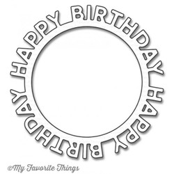 Happy Birthday Circle Frame, My Favorite Things Die-Namics - 849923021149