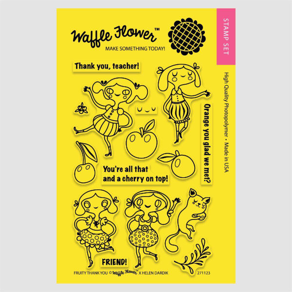 Waffle Flower Clear Stamps, Fruity Thank You - 653341215635