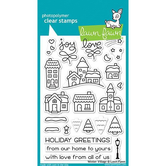 Lawn Fawn Clear Stamps, Winter Village - 035292668355