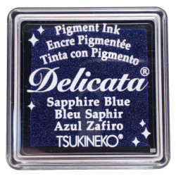 Delicata Small Ink Pad, Sapphire Blue -