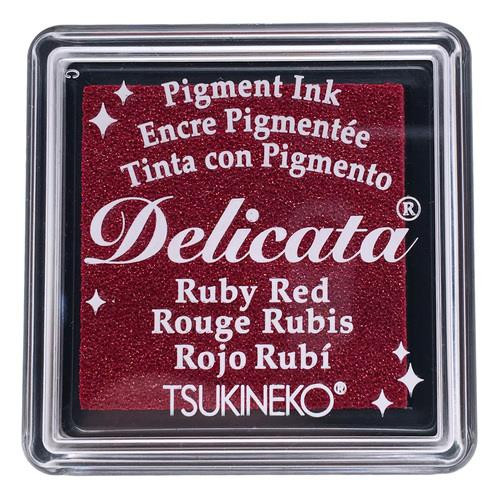 Delicata Small Ink Pad, Ruby Red -