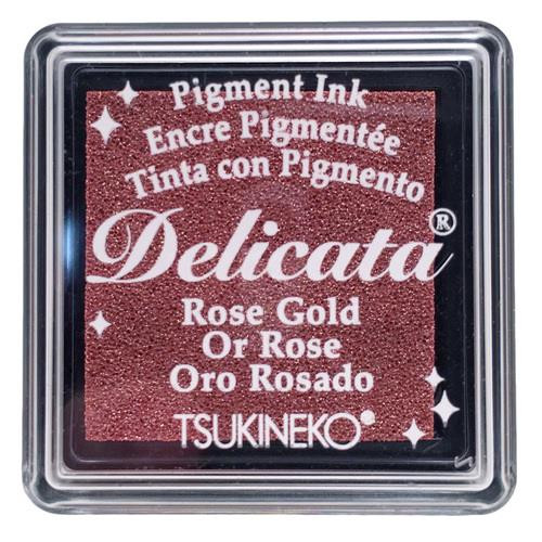 Delicata Small Ink Pad, Rose Gold -