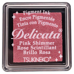 Delicata Small Ink Pad, Pink Shimmer -