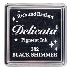 Delicata Small Ink Pad, Black Shimmer -