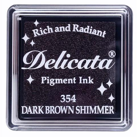 Delicata Small Ink Pad, Dark Brown Shimmer -