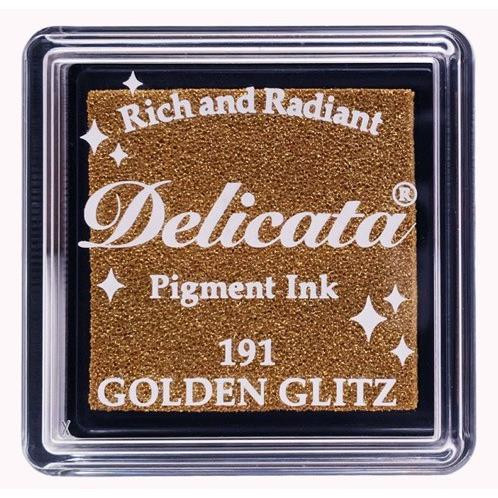 Delicata Small Ink Pad, Golden Glitz -