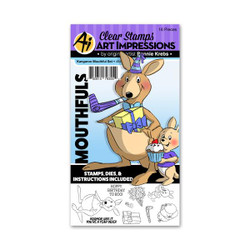 Art Impressions Clear Stamps, Kangaroo Mouthful - 750810793554