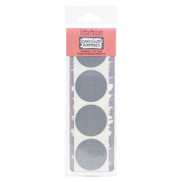 Inky Antics Scratch-Off Stickers, 1-1/2 Inch Circle -