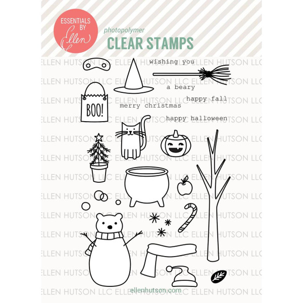 Essentials by Ellen Clear Stamps, Bear Ware 2 by Julie Ebersole -