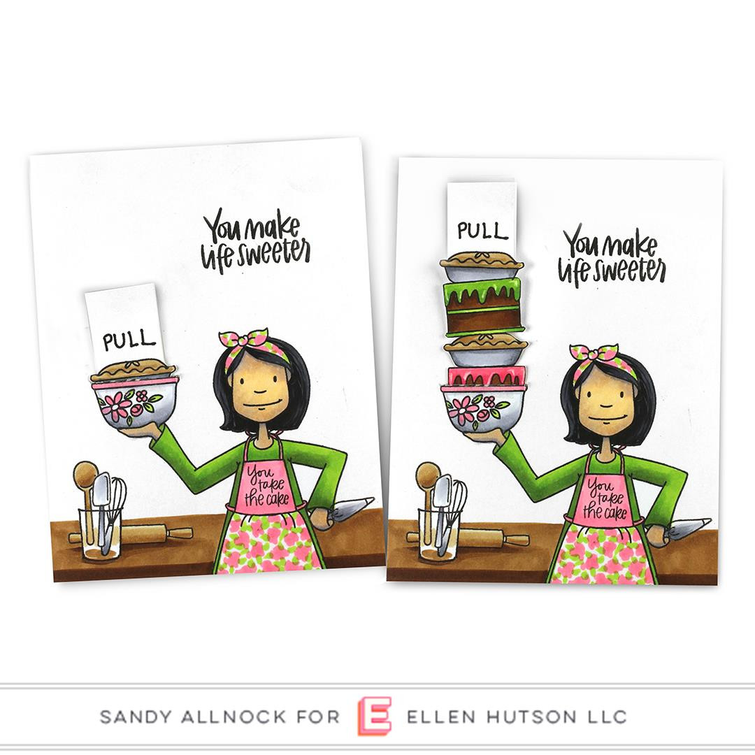 Essentials by Ellen Clear Stamps, Leading Ladies - Baker Lady by Brandi Kincaid -